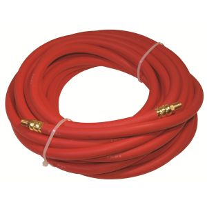3/8 in x 35 ft. - 1/4 in. MNPT Rubber Air Hose, Red