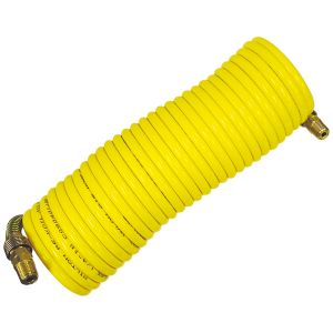 1/4 in. x 25 ft. Nylon Re-Koil Air Hose, Yellow